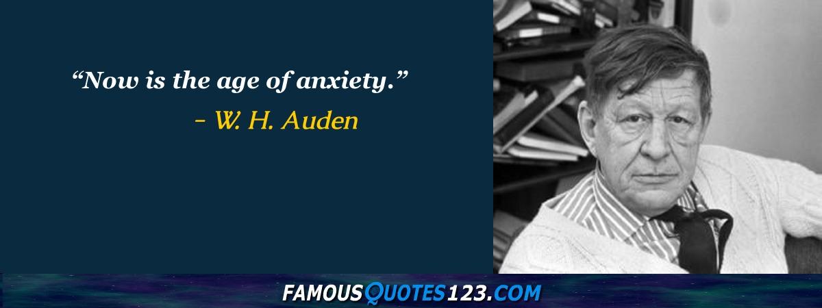 Famous Quotations By W. H. Auden