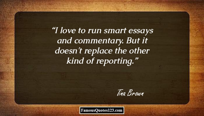 I love to run smart essays and commentary. But it doesn't replace the other kind of reporting.