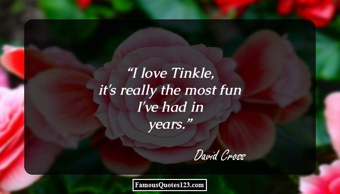 I love Tinkle, it's really the most fun I've had in years.