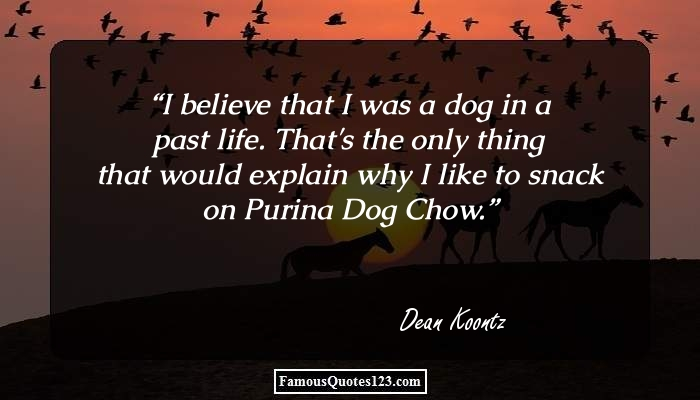I believe that I was a dog in a past life. That's the only thing that would explain why I like to snack on Purina Dog Chow.