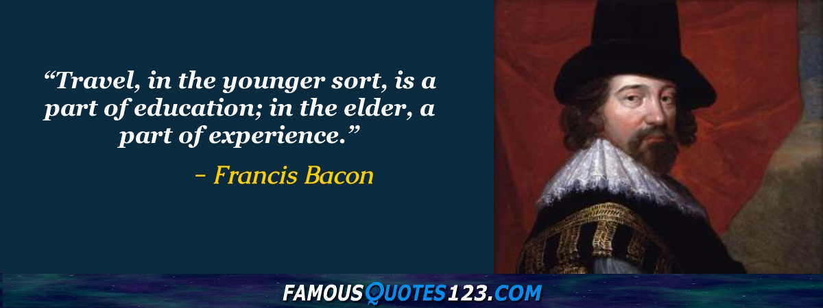 famous essays by francis bacon Sir francis bacon's fame in england and even abroad rests very largely on his essays according to wj long, bacon's famous essays are the one work, which interests all students of english literature.