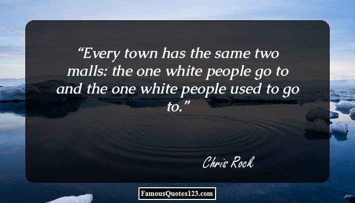 Every town has the same two malls: the one white people go to and the one white people used to go to.
