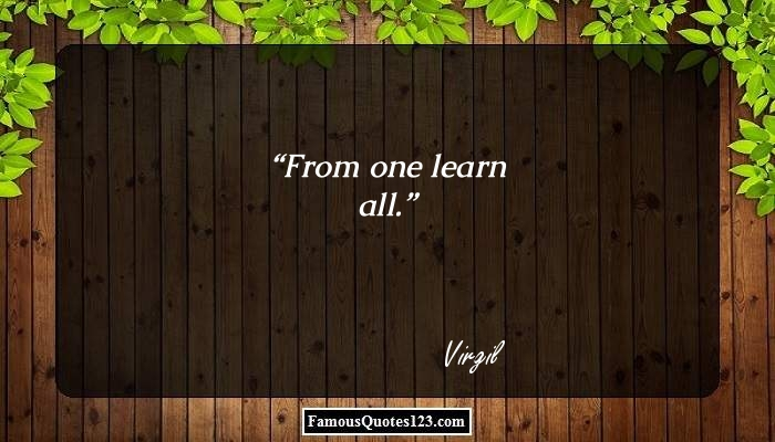 From one learn all.